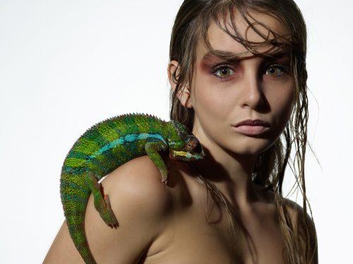 Christian Kuhlmann mit Model Katrin Sikora für Olympus
