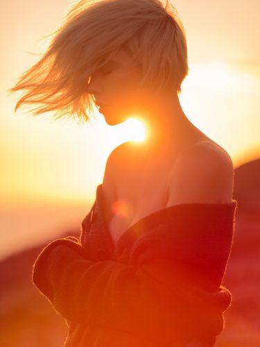 Mara Bella im Sonnenaufgang