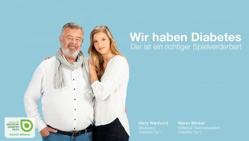 Kampagne für die Deutsche Diabetes Hilfe