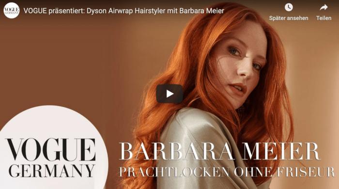 VOGUE Dyson Airwrap Barbara Meier